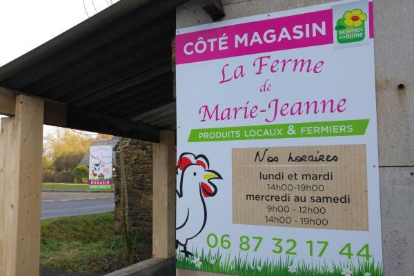 Enseigne de La Ferme de Marie Jeanne
